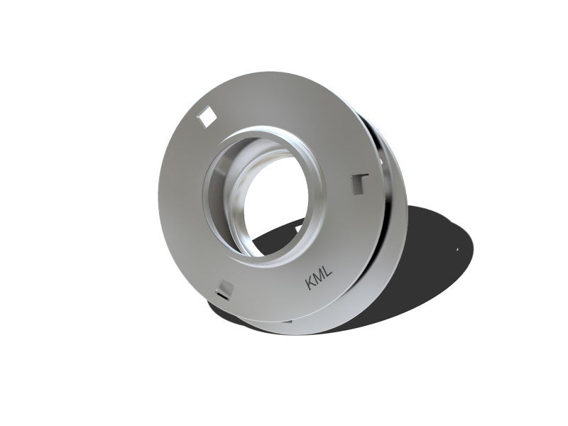 Round flange pressed steel housings