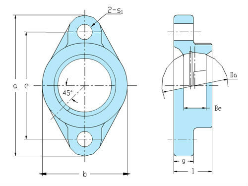 Two bolt flange housing VFL 209 - KML