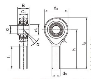 Rod end - KUA25-ZZ - ASKUBAL