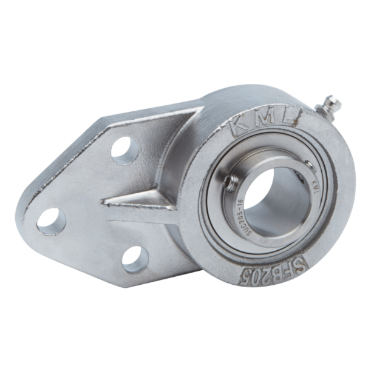 Stainless steel - three-bolt flange SSUCFB